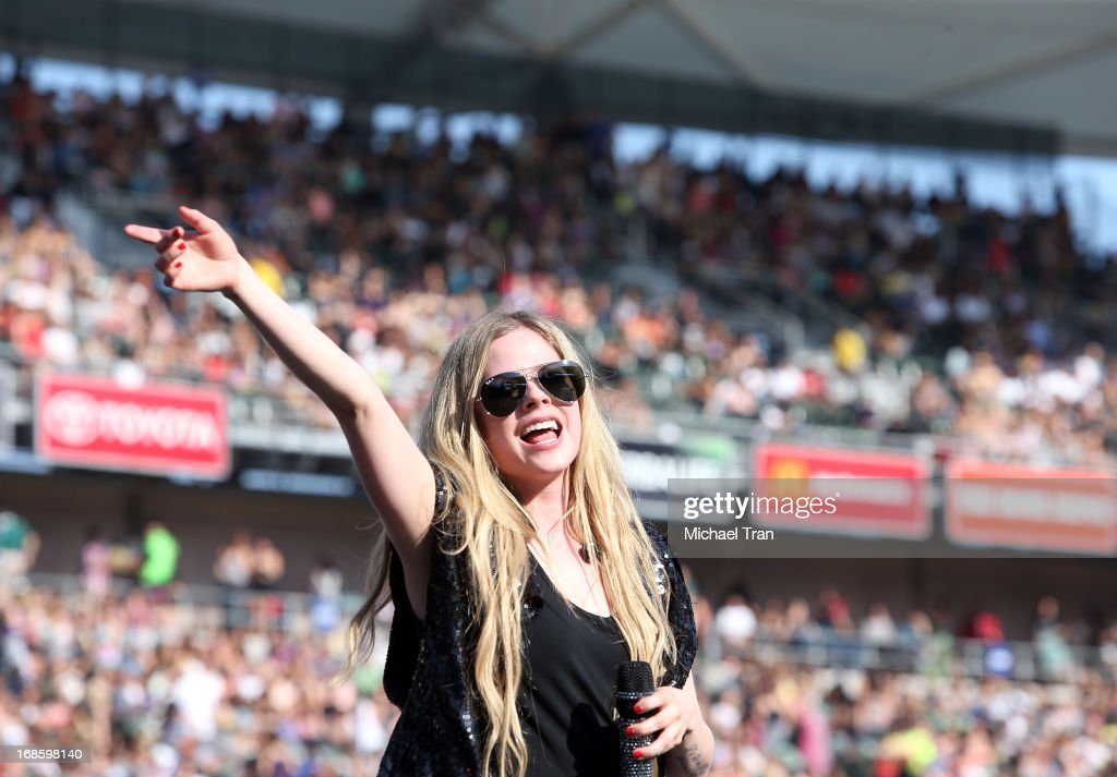 Avril Lavigne performs onstage during the 2013 KIIS FM's Wango Tango held at The Home Depot Center on May 11, 2013 in Carson, California.