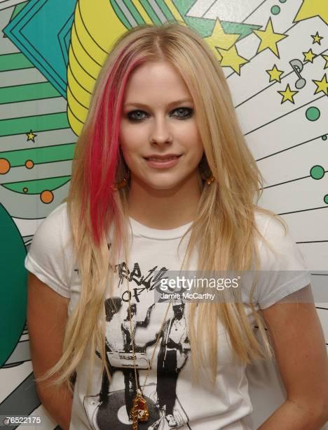 Avril Lavigne visits MTV's 'TRL' at MTV Studios Times Square New York September 5 2007