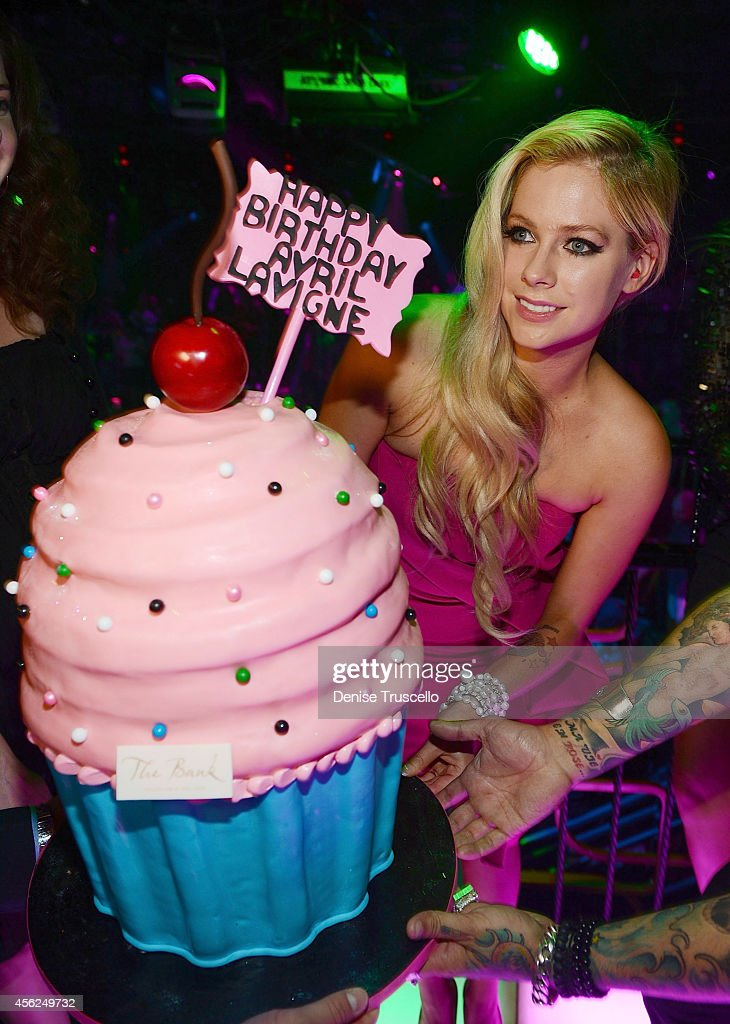 Avril Levigne celebrates her 30th birthday at the Bank Nightclub in the Bellagio Hotel and Casino on September 28, 2014 in Las Vegas, Nevada.