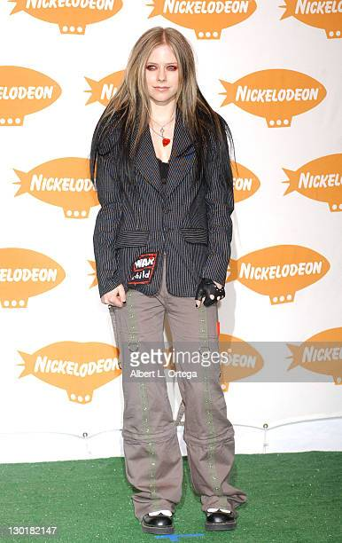 Avril lLavigne during Nickelodeon's 17th Annual Kids' Choice Awards Press Room at Pauley Pavillion in Westood California United States