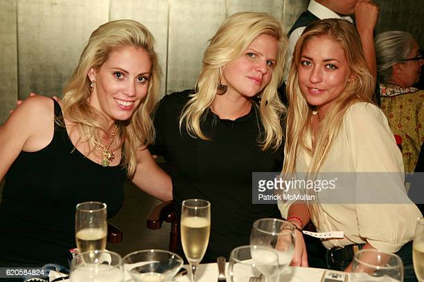 Avry Broadbent Caroline Rowley and Alina Kohlem attend DAVID LACHAPELLE Exhibition Celebration Dinner at Mr Chow on September 12 2008 in New York City