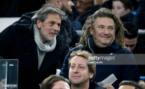 Avy Marciano Olivier Delacroix attend the Ligue 1 match between Olympique de Marseille and Olympique Lyonnais at Stade Velodrome on November 10 2019...