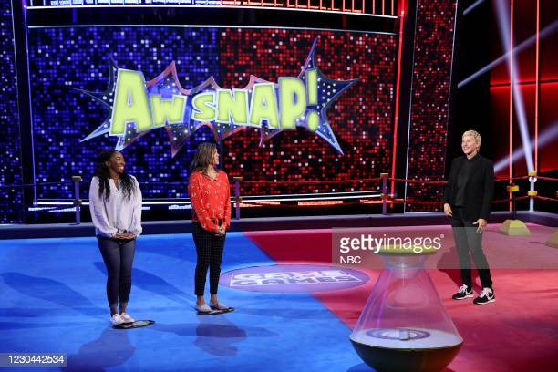 "Aw Snap Out of It"" Episode 406 -- Pictured: Janae Ingram, Josephine Valdez, Ellen DeGeneres --"