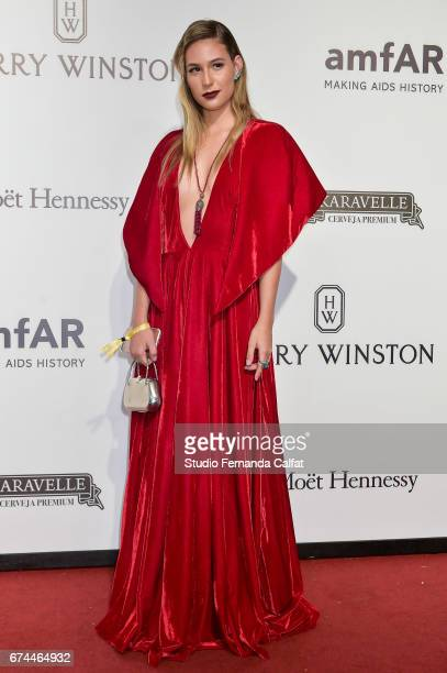 Awa Guimaraes attends the 7th Annual amfAR Inspiration Gala on April 27 2017 in Sao Paulo Brazil