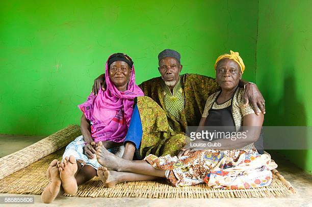 Awabu Alidu with her husband Alidu Mumumi and his other wife Afishetu Alidu Awabu is free of guinea worm this year for the first time since she can...