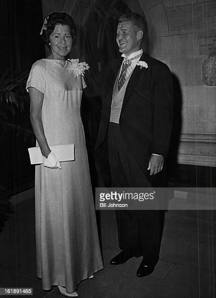 AUG 20 1966 AUG 22 1966 Await Procession Lineup Mrs Adolph Coors III and her brother James B Grant of Greenwich Conn await their cue to enter...