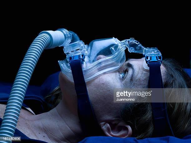 Acordada Apneia do doente