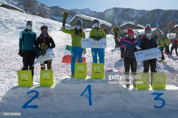 Award ceremony for the female category Martina Valmassoi, Elena Nicolini, Giulia Murada, Alba De Silvestro, Katia Tomatis, Ilaria Veronese during...