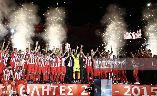 Award ceremony for winning the 42nd championship by Olympiacos FC This year is the 17th title in the last 19 years At Faliro near Athens on Sunday