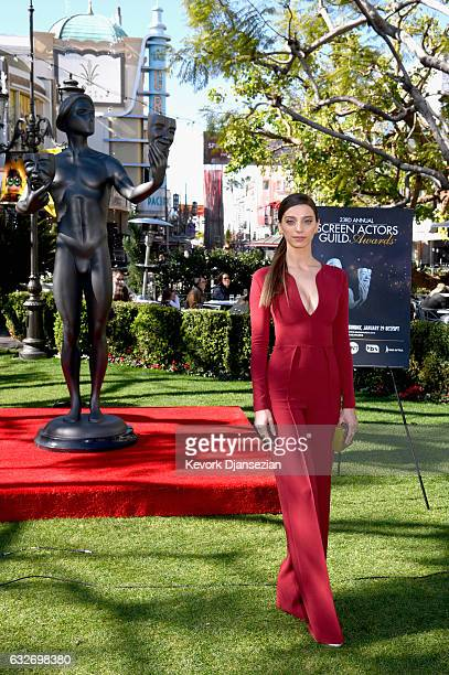 Award Nominee Angela Sarafyan attends The 23rd Annual Screen Actors Guild Awards Greet The Actor at The Grove on January 25 2017 in Los Angeles...