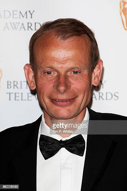 Award presenter Andrew Marr poses at the BAFTA Television Awards 2009 at the Royal Festival Hall on April 26 2009 in London England