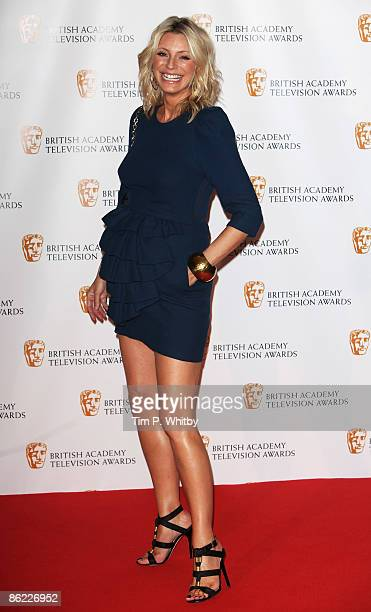 Award Presenter Tess Daly poses at the BAFTA Television Awards 2009 at the Royal Festival Hall on April 26 2009 in London England
