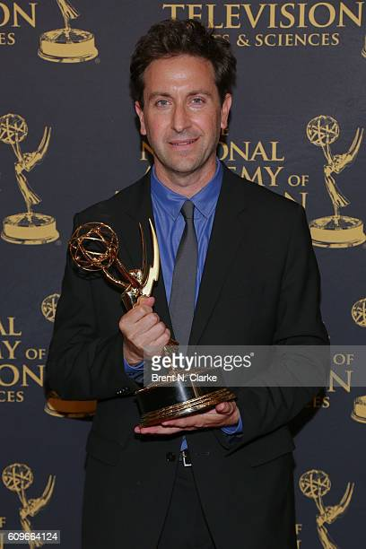 Award recipient for outstanding long form investigative reporting and outstanding documentary research Ken Dornstein poses during the 37th Annual...