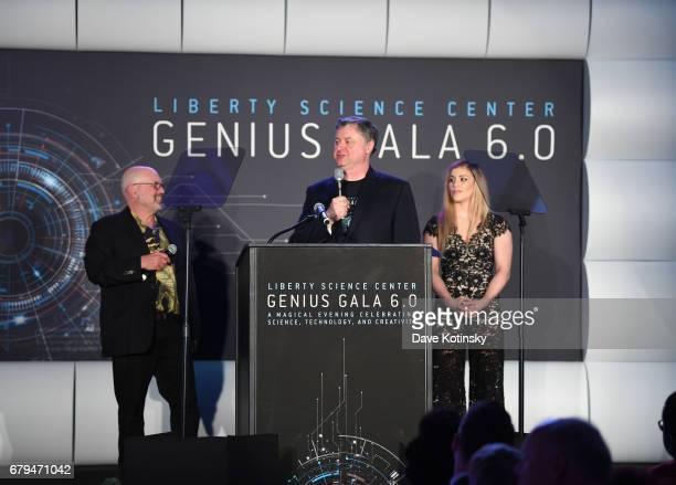Award Recipient, Founder of robotics company Boston Dynamics Marc Raibert accepts Genius Award from presenter, Olympic Wrestling Gold Medalist Helen...