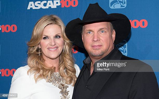 Award recipient, singer-songwriter Garth Brooks and wife, singer Trisha Yearwood attend the ASCAP Centennial Awards at The Waldorf Astoria on...