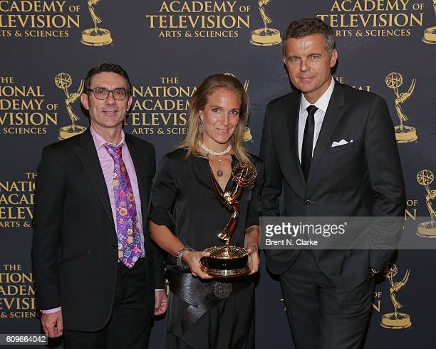 Award recipients for outstanding coverage of a breaking news story in a regularly scheduled news cast Pete Kavanagh Arwa Damon and Christian Streib...