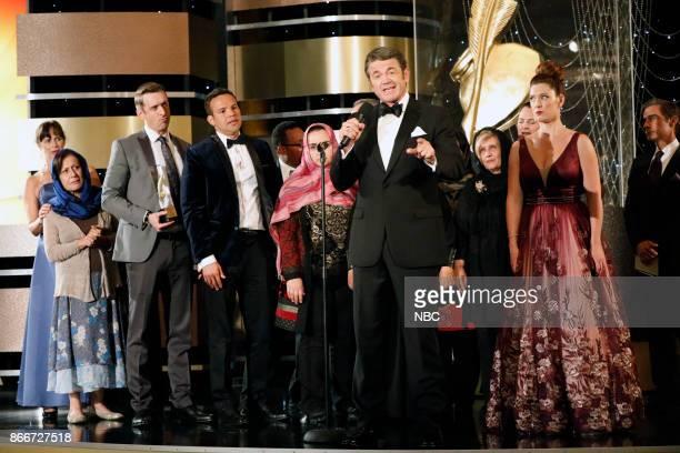 NEWS 'Award Show' Episode 204 Pictured David Hill as Chet Adam Countee as Chip John Michael Higgins as Chuck Briga Heelan as Katie
