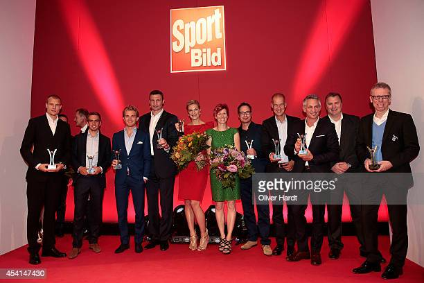 Award Winner 2014 poses for the media during the Sport Bild Awards at Fischauktionshalle on August 25 2014 in Hamburg Germany
