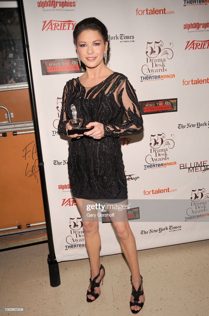 Award winner, actress Catherine Zeta Jones attends the press room at the 55th Annual Drama Desk Awards at the FH LaGuardia Concert Hall at Lincoln Center on May 23, 2010 in New York City.