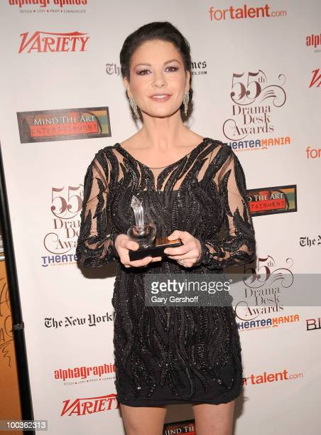 Award winner actress Catherine Zeta Jones attends the press room at the 55th Annual Drama Desk Awards at the FH LaGuardia Concert Hall at Lincoln...