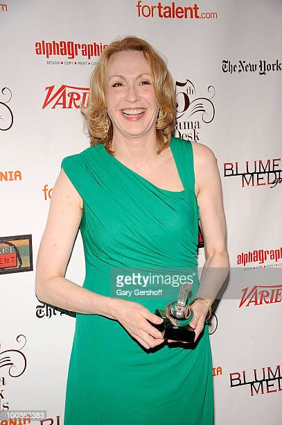Award winner actress Jan Maxwell attends the press room at the 55th Annual Drama Desk Awards at the FH LaGuardia Concert Hall at Lincoln Center on...