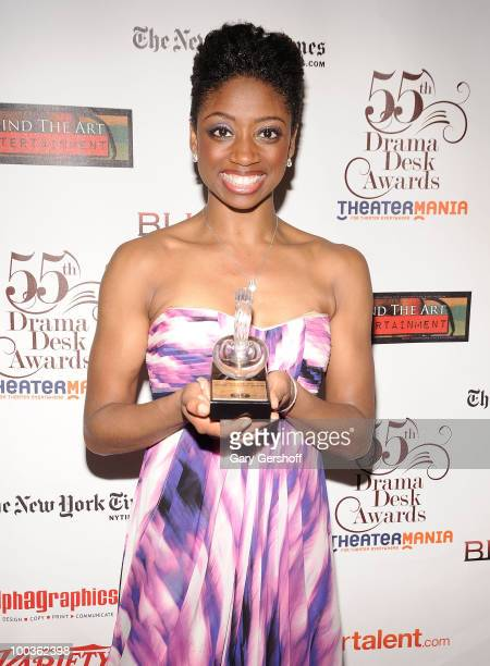 Award winner actress Montego Glover attends the press room at the 55th Annual Drama Desk Awards at the FH LaGuardia Concert Hall at Lincoln Center on...