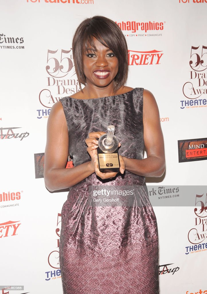 Award winner, actress Viola Davis attends the press room at the 55th Annual Drama Desk Awards at the FH LaGuardia Concert Hall at Lincoln Center on May 23, 2010 in New York City.