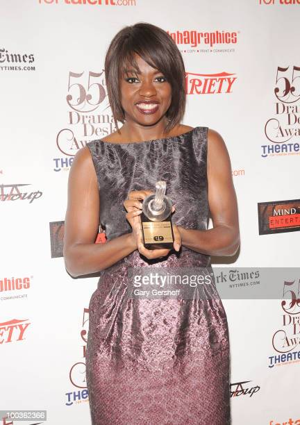 Award winner actress Viola Davis attends the press room at the 55th Annual Drama Desk Awards at the FH LaGuardia Concert Hall at Lincoln Center on...