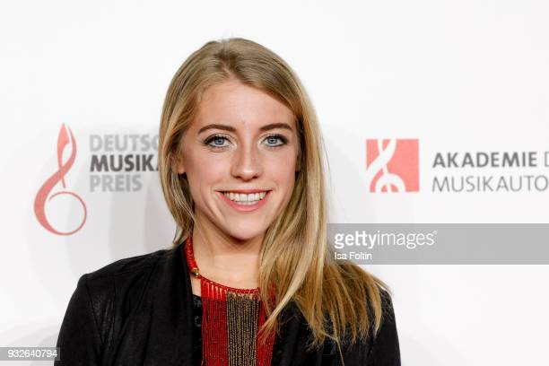 Award winner AnnaMarlene Bicking during the German musical authors award on March 15 2018 in Berlin Germany