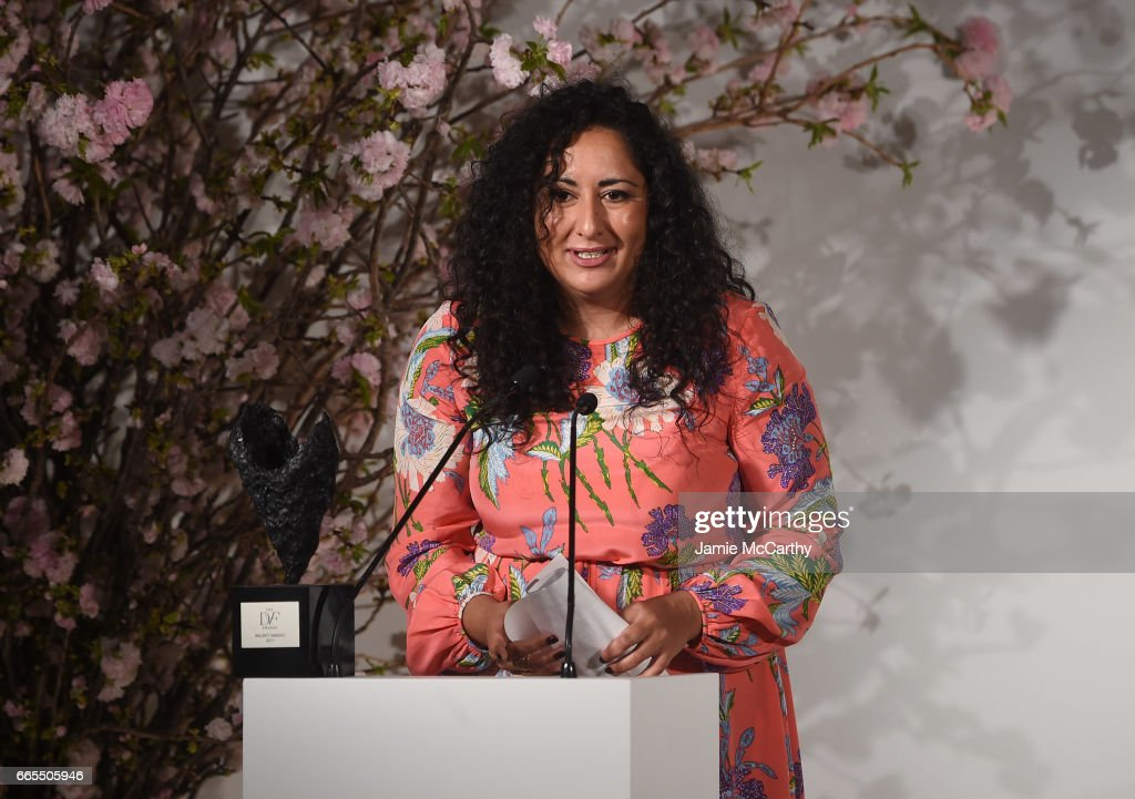Award winner Baljeet Sandhu speaks onstage at the 2017 DVF Awards at United Nations Headquarters on April 6, 2017 in New York City.