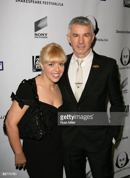 Award winner Baz Luhrmann and wife Catherine Martin pose during the 2008 Shakespeare Festival LA's Crystal Quill awards held at Twentieth Century Fox...