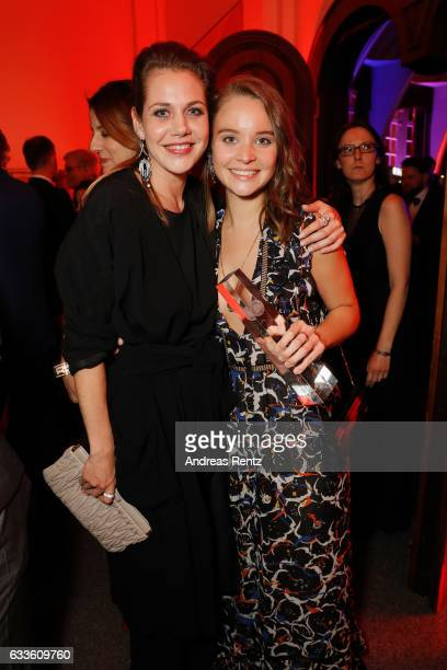 Award winner best actress Sonja Gerhardt and Felicitas Woll attend the German Television Award at Rheinterrasse on February 2 2017 in Duesseldorf...