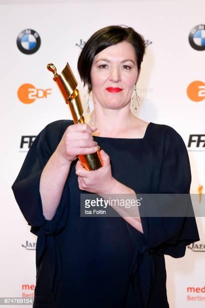 Award winner best costume Frauke Firl at the Lola - German Film Award winners board at Messe Berlin on April 28, 2017 in Berlin, Germany.