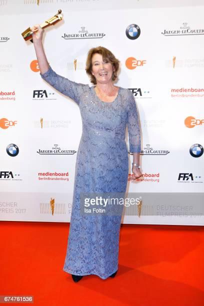 Award winner best film editor Monika Schindler at the Lola - German Film Award winners board at Messe Berlin on April 28, 2017 in Berlin, Germany.