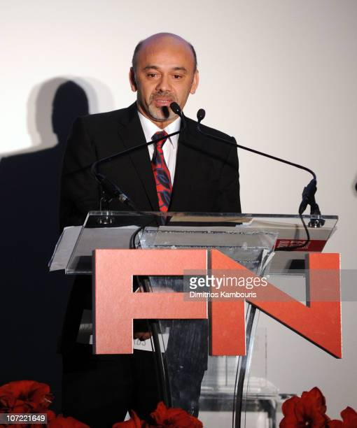 Award Winner Christian Louboutin speaks onstage at the Footwear News 24th Annual Achievement Awards at The Museum of Modern Art on November 30 2010...