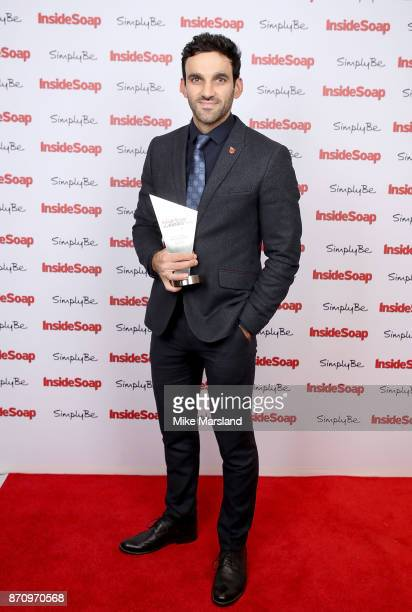 Award winner Davood Ghadami attends the Inside Soap Awards held at The Hippodrome on November 6 2017 in London England