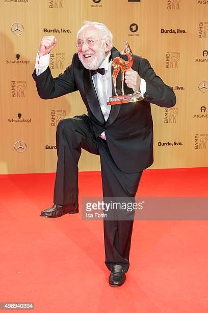 Award winner Dieter Hallervorden attends the Kryolan At Bambi Awards 2015 Red Carpet Arrivals on November 12 2015 in Berlin Germany
