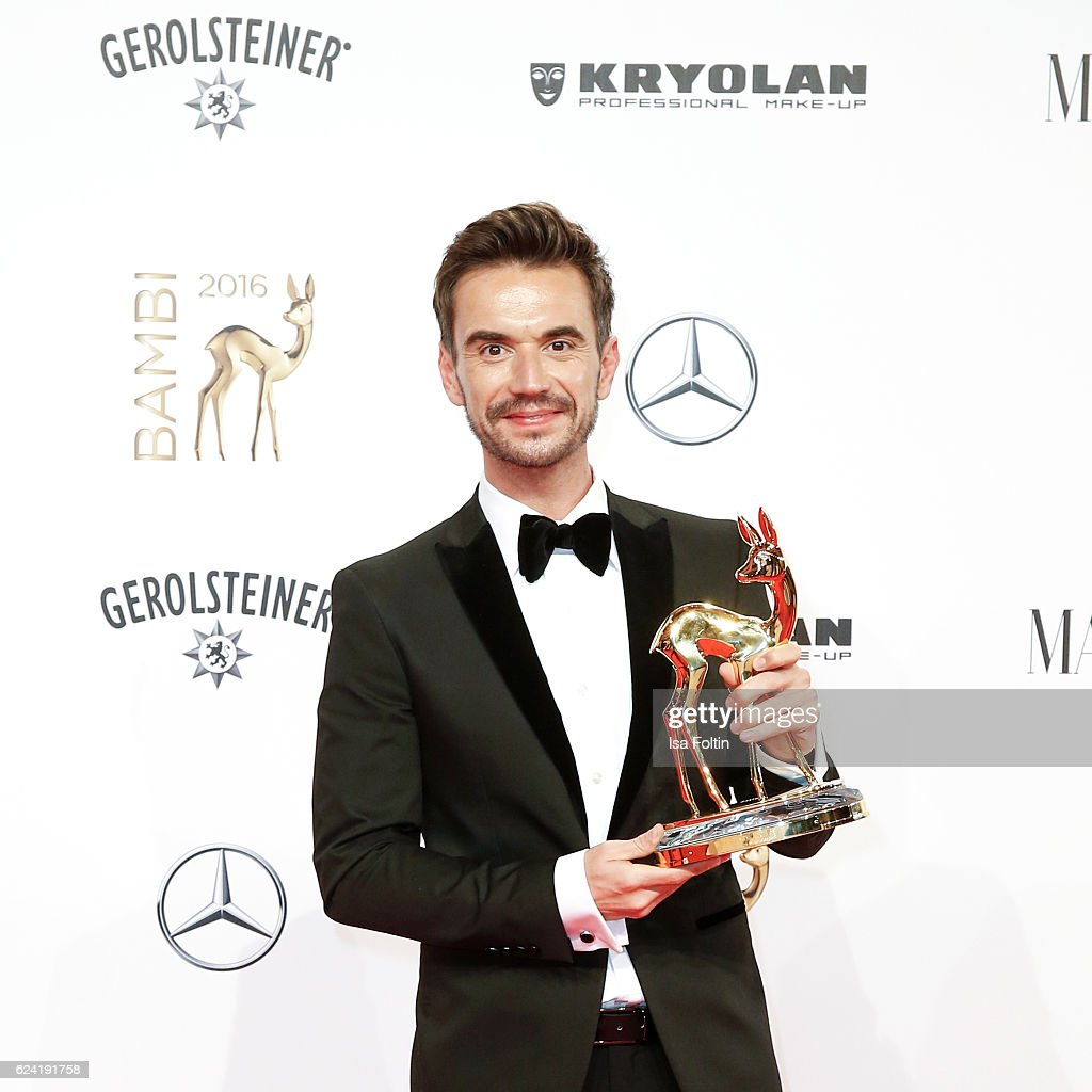 Award winner Florian Silbereisenduring the Bambi Awards 2016 at Stage Theater on November 17, 2016 in Berlin, Germany.