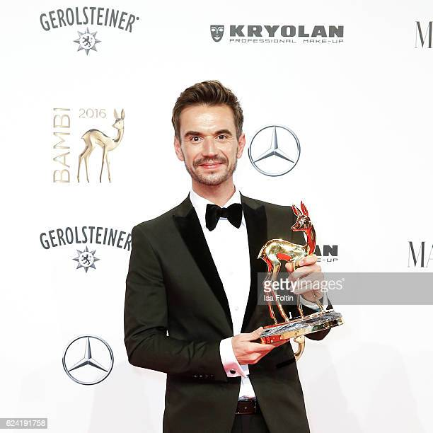 Award winner Florian Silbereisenduring the Bambi Awards 2016 at Stage Theater on November 17 2016 in Berlin Germany