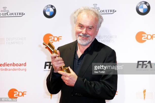 Award winner for best camera Reinhold Vorschneider at the Lola - German Film Award winners board at Messe Berlin on April 28, 2017 in Berlin, Germany.