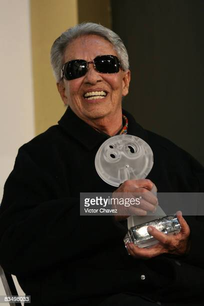 Award winner for best folclore show Chavela Vargas in the press room during las Lunas del Auditorio 2008 at Auditorio Nacional on October 29 2008 in...