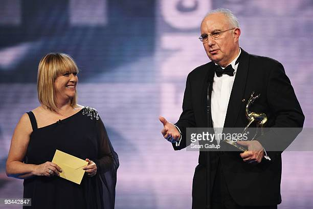 Award winner for 'Engagement' Juergen Schulz and Patricia Riekel attend the Bambi Awards 2009 show at the Metropolis Hall at the Filmpark Babelsberg...