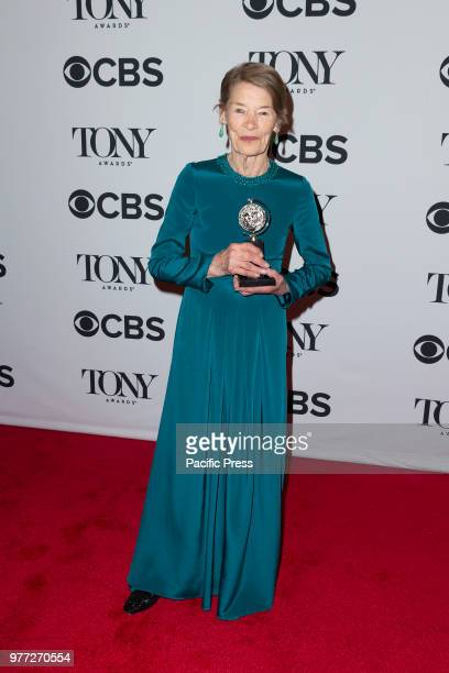 Award winner Glenda Jackson poses in the 72nd Annual Tony Awards Media Room at 3 West Club