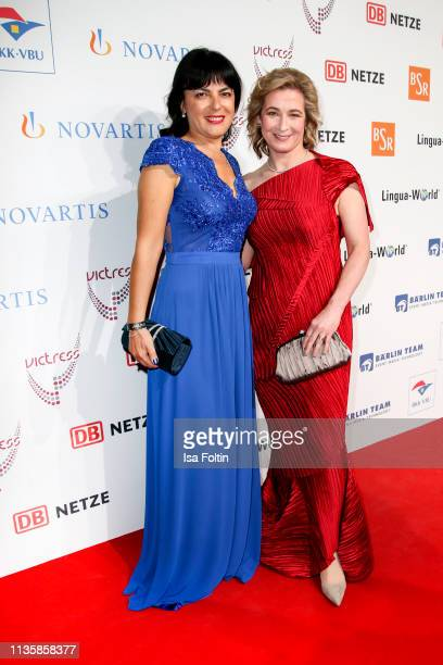 Award winner Illijana Vavan and former German speed skater Olympic gold medalist and award winner Claudia Pechstein attend the annual Victress Awards...