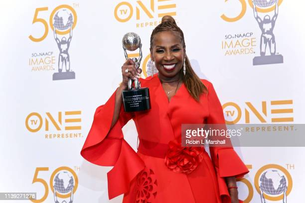 Award winner Iyanla Vanzant poses in the press room at The Beverly Hilton on March 29 2019 in Beverly Hills California