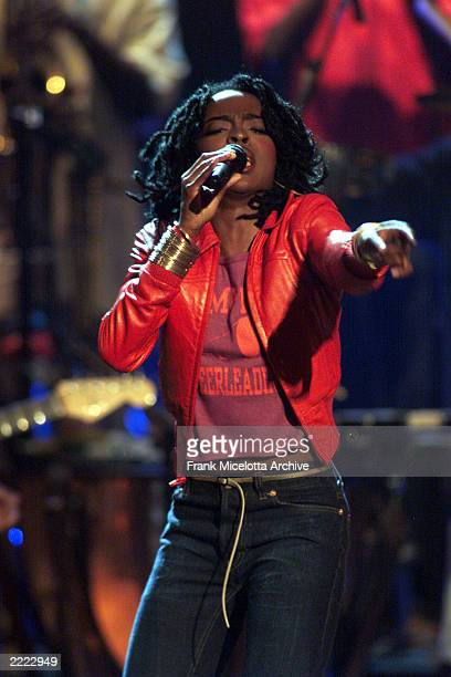 Award winner Lauryn Hill performing on 'The Source Hip Hop Music Awards' at the Pantages Theatre in Los Angeles California on August 18 1999 The show...