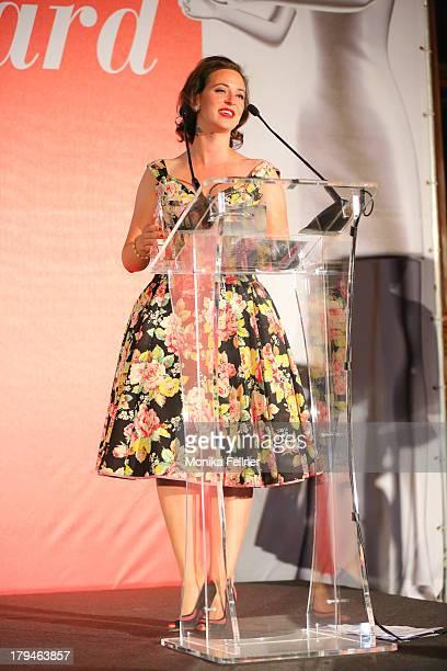 Award winner Lena Hoschek speaks during the Leading Ladies Awards 2013 at Belvedere Palace on September 3 2013 in Vienna Austria