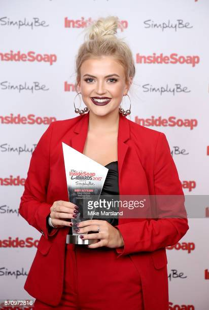Award winner Lucy Fallon attends the Inside Soap Awards held at The Hippodrome on November 6 2017 in London England