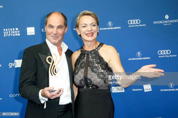 Award winner Marcus Off Karola Wille during the 6th German Actor Award Ceremony at Zoo Palast on September 22 2017 in Berlin Germany