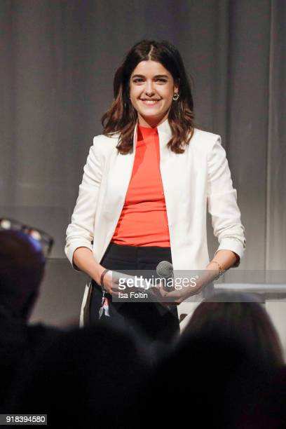 Award winner Marie Nasemann during the Young ICONs Award in cooperation with ICONIST at SpindlerKlatt on February 14 2018 in Berlin Germany